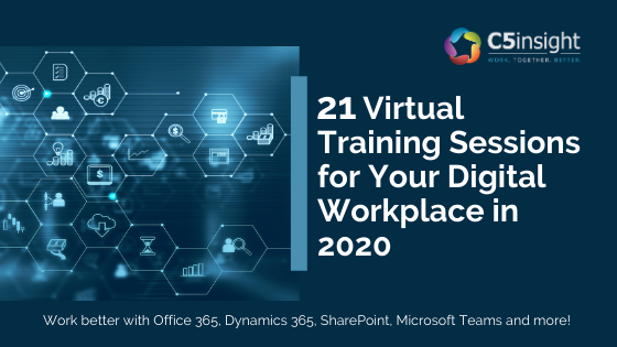 c5 insight graphic 21 virtual training sessions for your digital workplace webinars