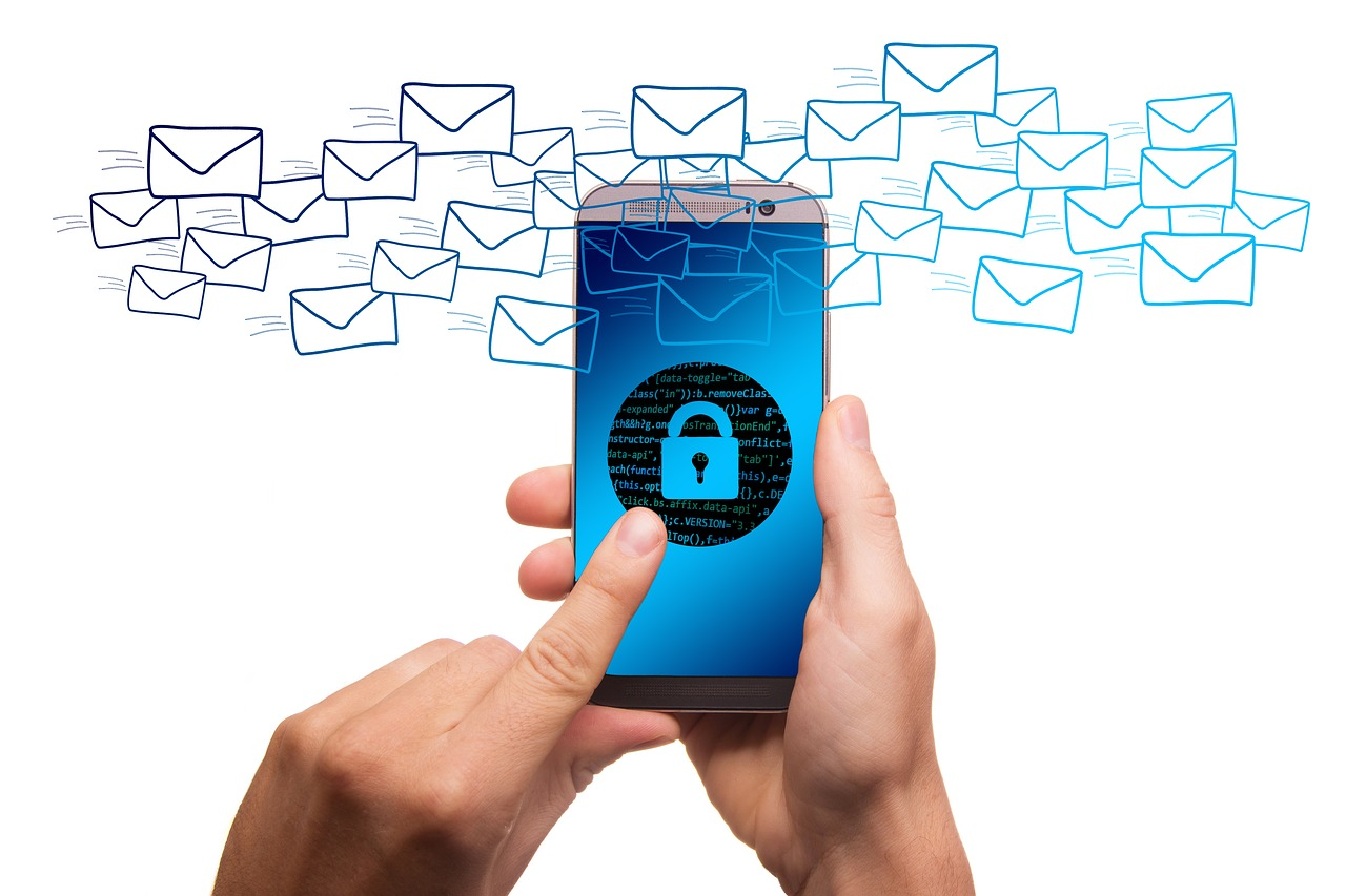 spam hackers locking phone emails cybersecurity