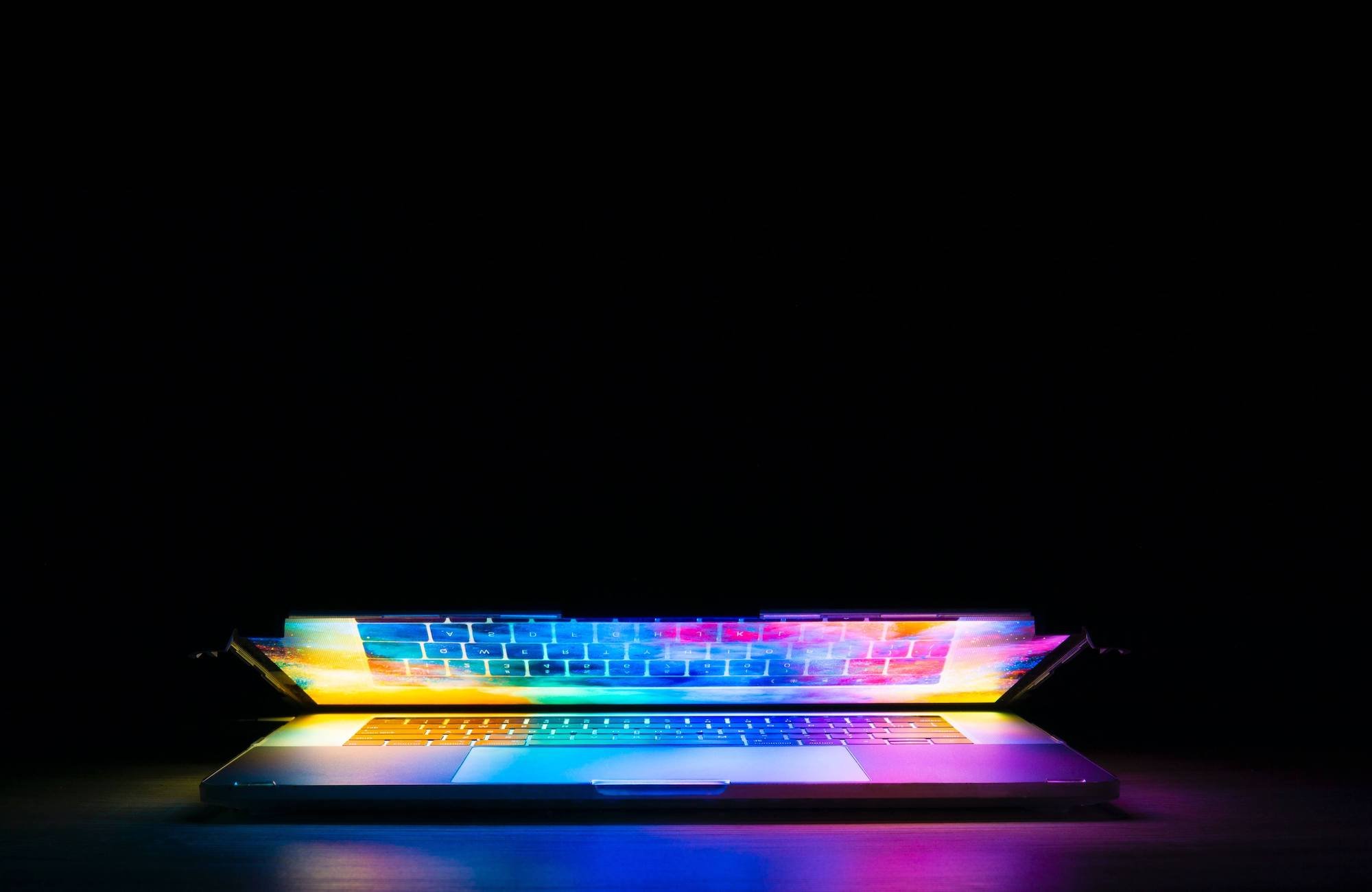 Ways to avoid big shiny object syndrome laptop opening with bright colors