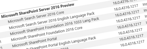 SharePoint 2016 IT Preview