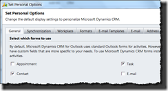 CRM for Outlook - click to enlarge